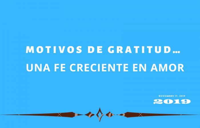 MOTIVOS DE GRATITUD…